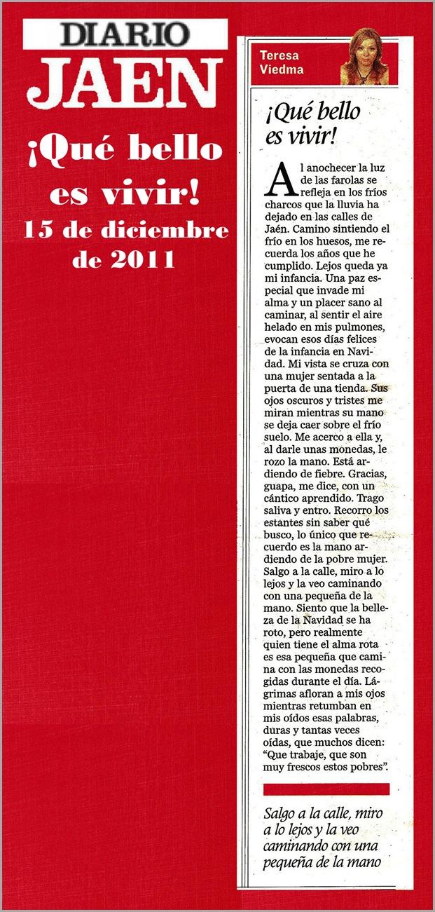 13.- 15 12 2011 Que bello es vivir