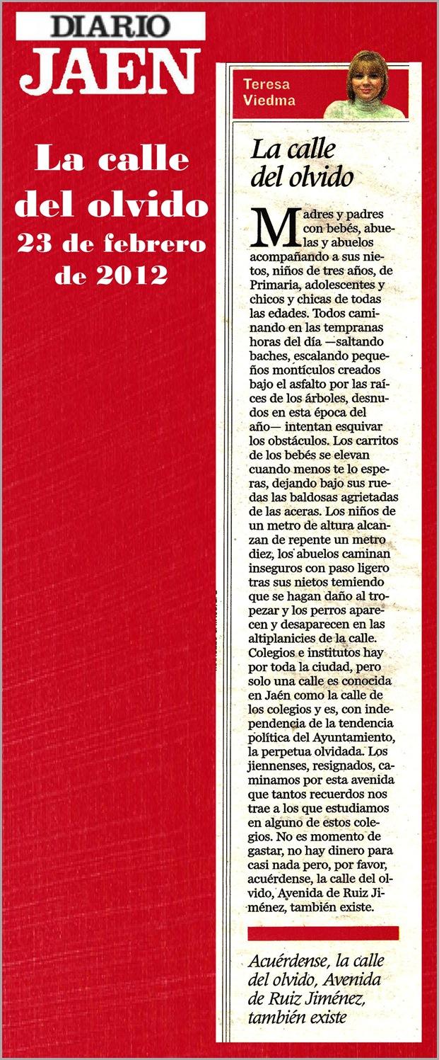 18.- 23 02 2012 La calle del olvido
