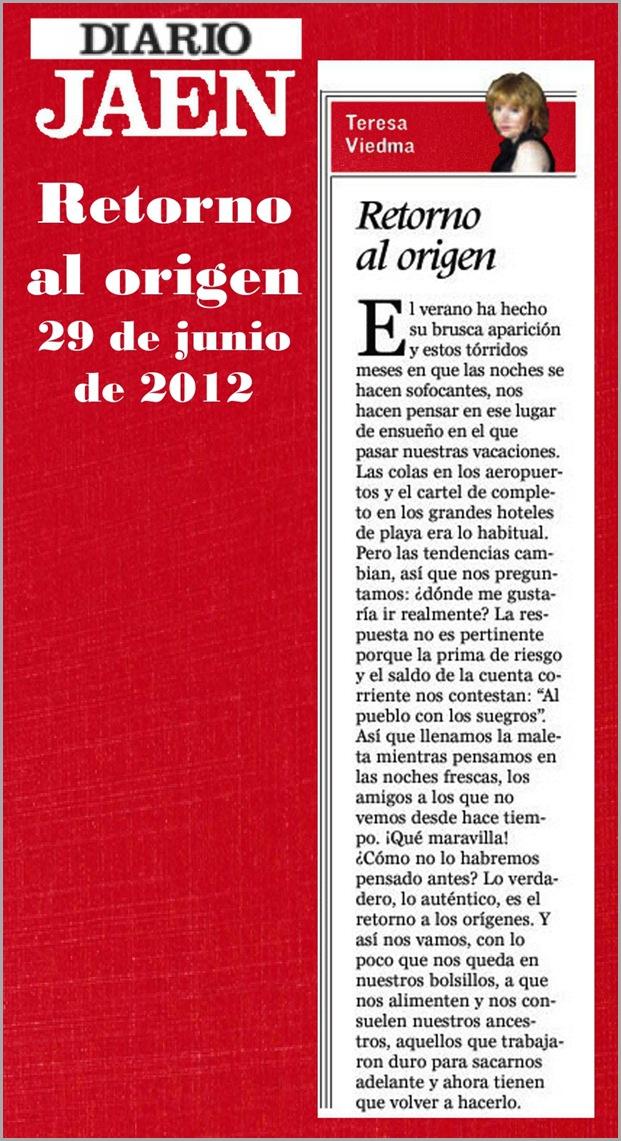 27.- 29-06-2012 Retorno al origen
