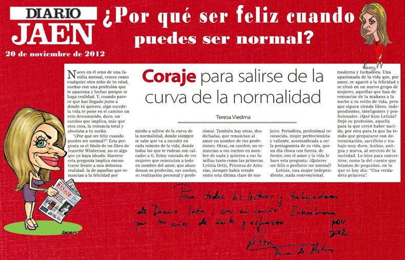 20-11-2012 Por qué ser feliz cuando se puede ser normal
