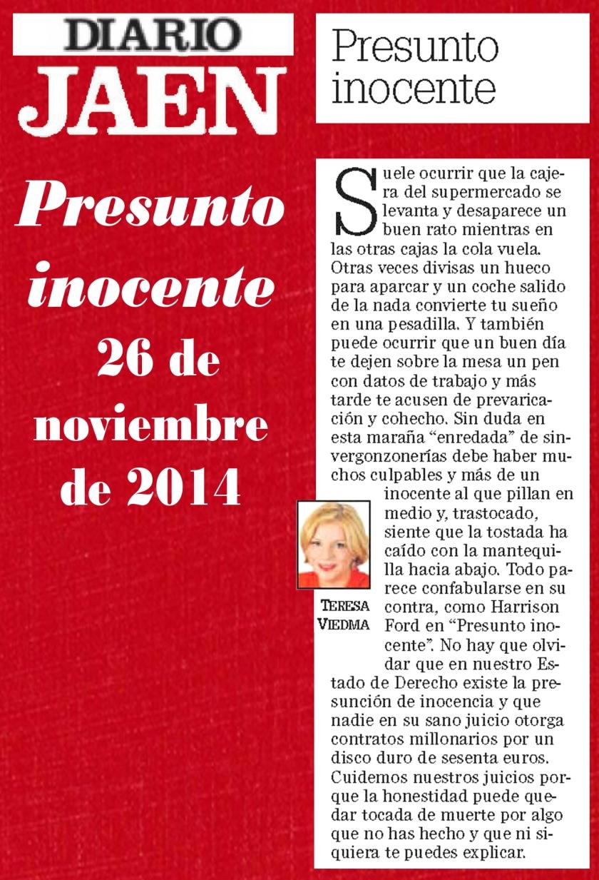 Presunto inocente 26 de noviembre de 2014